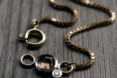 Armband detalj till guldlänk