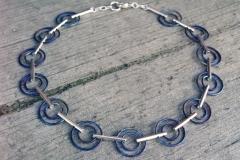Halsband i sterlingsilver och titan