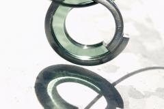 Halshänge av akrylplast och sterlingsilver