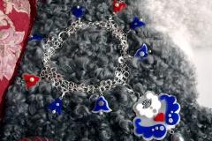 Halssmycke i sterlingsilver, akrylplast, odlade pärlor och Mother of pearls